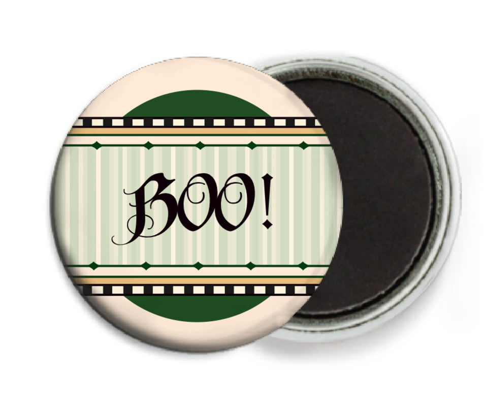 custom button magnets - deep green - folio (set of 6)