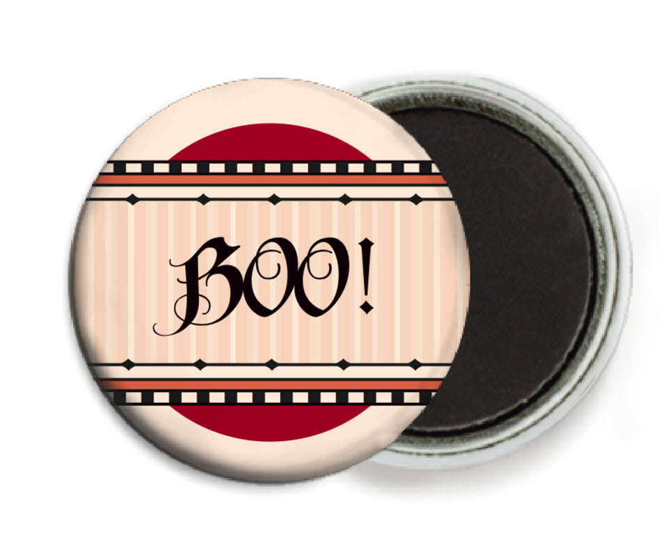 custom button magnets - red & gold - folio (set of 6)