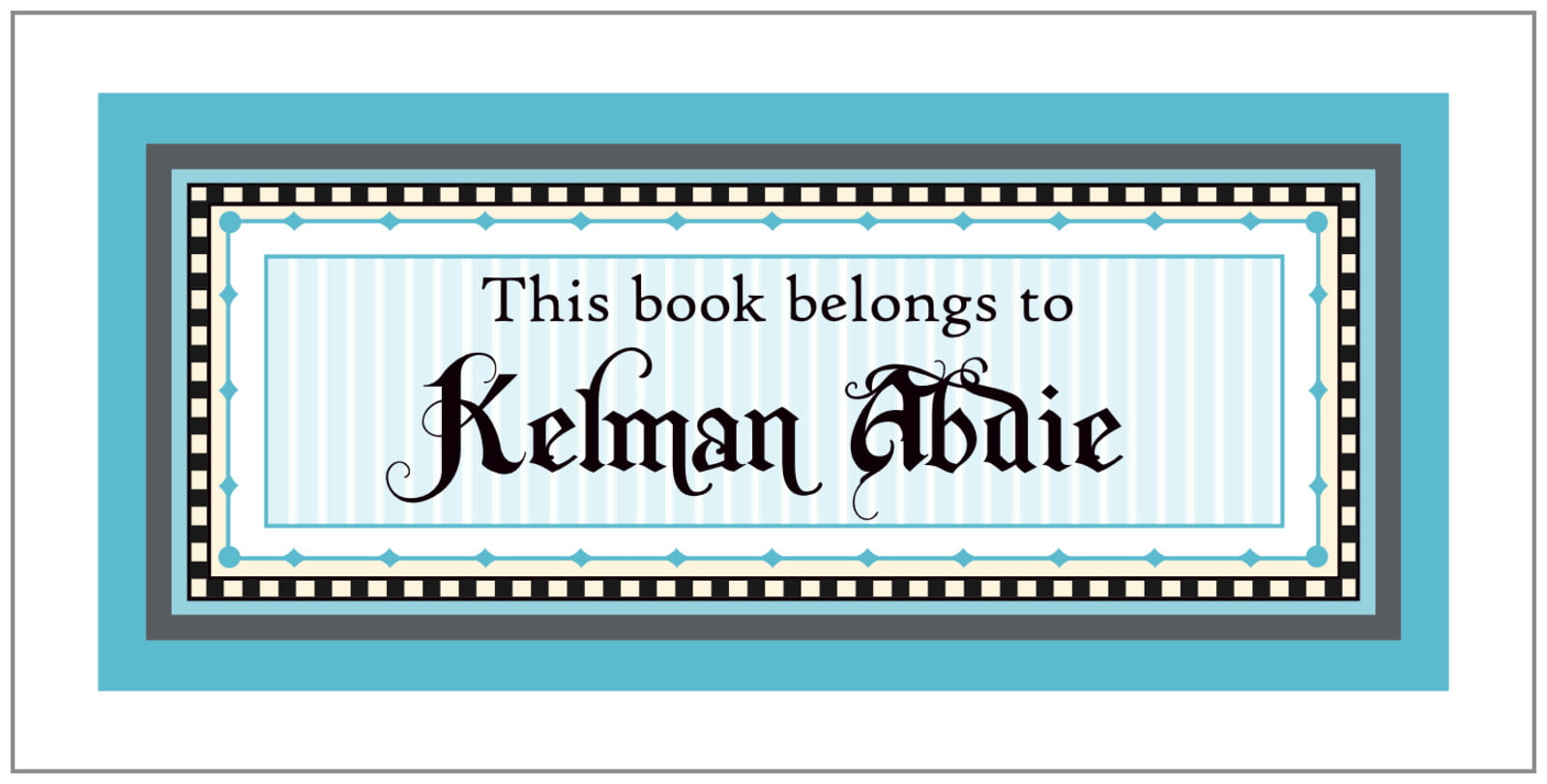 bookplates for everyone - bahama blue - folio (set of 24)