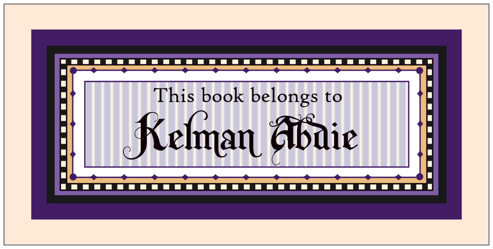 bookplates for everyone - purple - folio (set of 24)