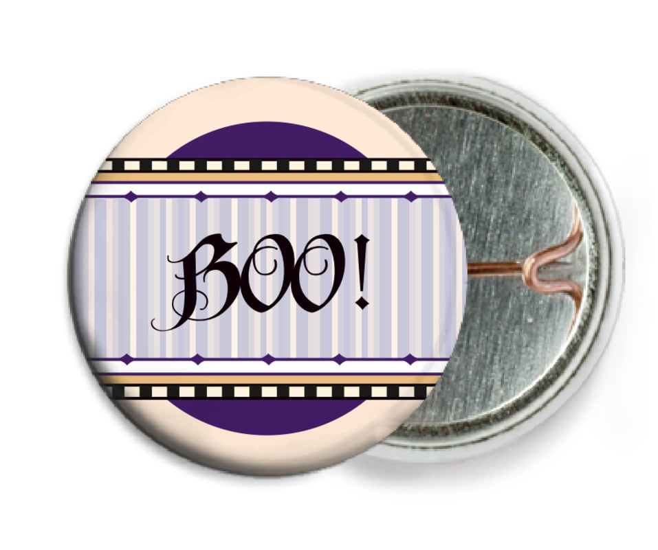 custom pin back buttons - purple - folio (set of 6)