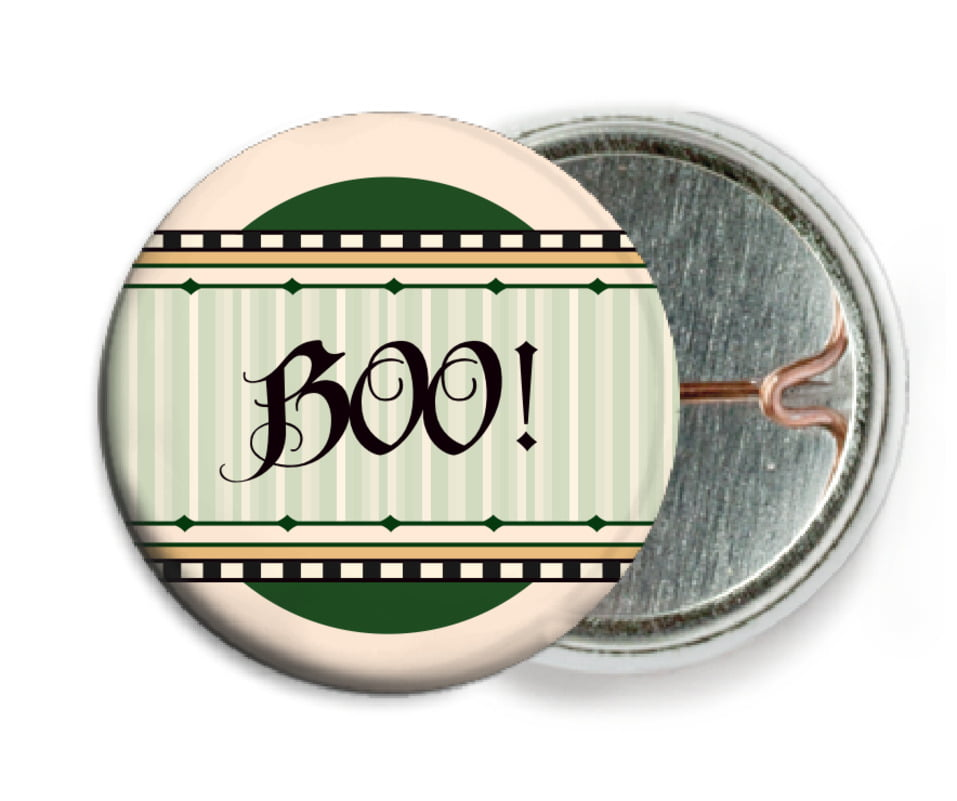 custom pin back buttons - deep green - folio (set of 6)