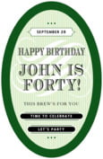 French Market birthday beer labels
