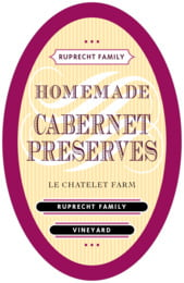 French Market tall oval labels