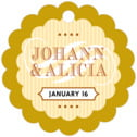 French Market scallop hang tags