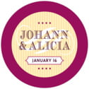 French Market medium round labels
