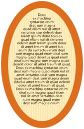 French Market oval text labels