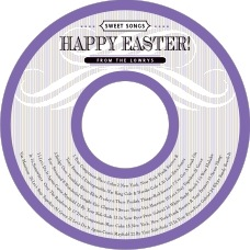 French Market Cd Label In Lilac