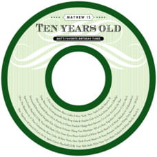French Market kid/teen birthday CD/DVD labels