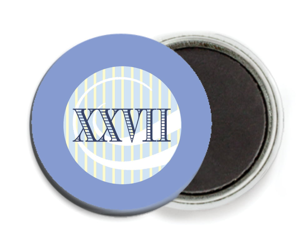 custom button magnets - periwinkle - french market (set of 6)