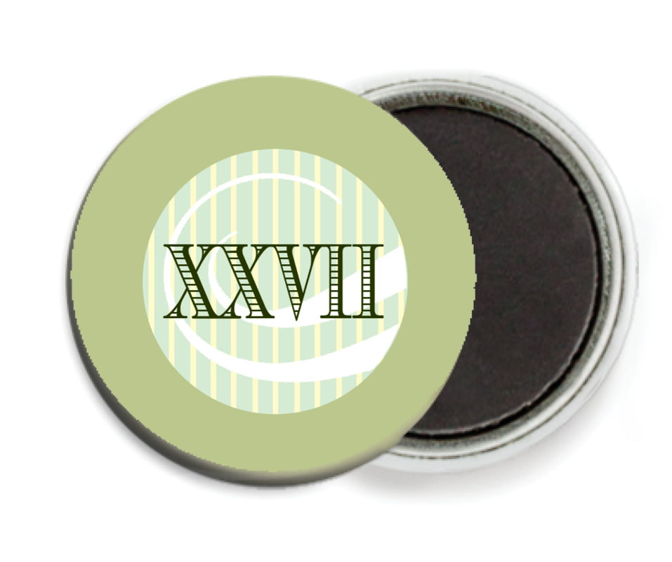 custom button magnets - green tea - french market (set of 6)