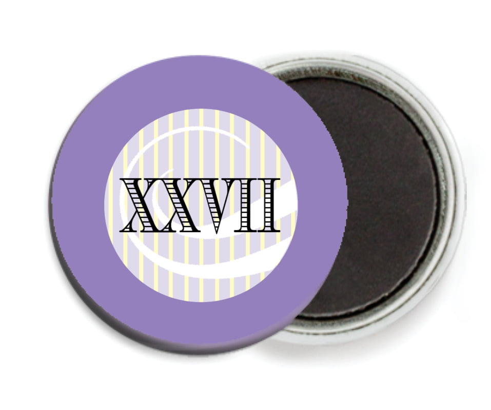 custom button magnets - lilac - french market (set of 6)