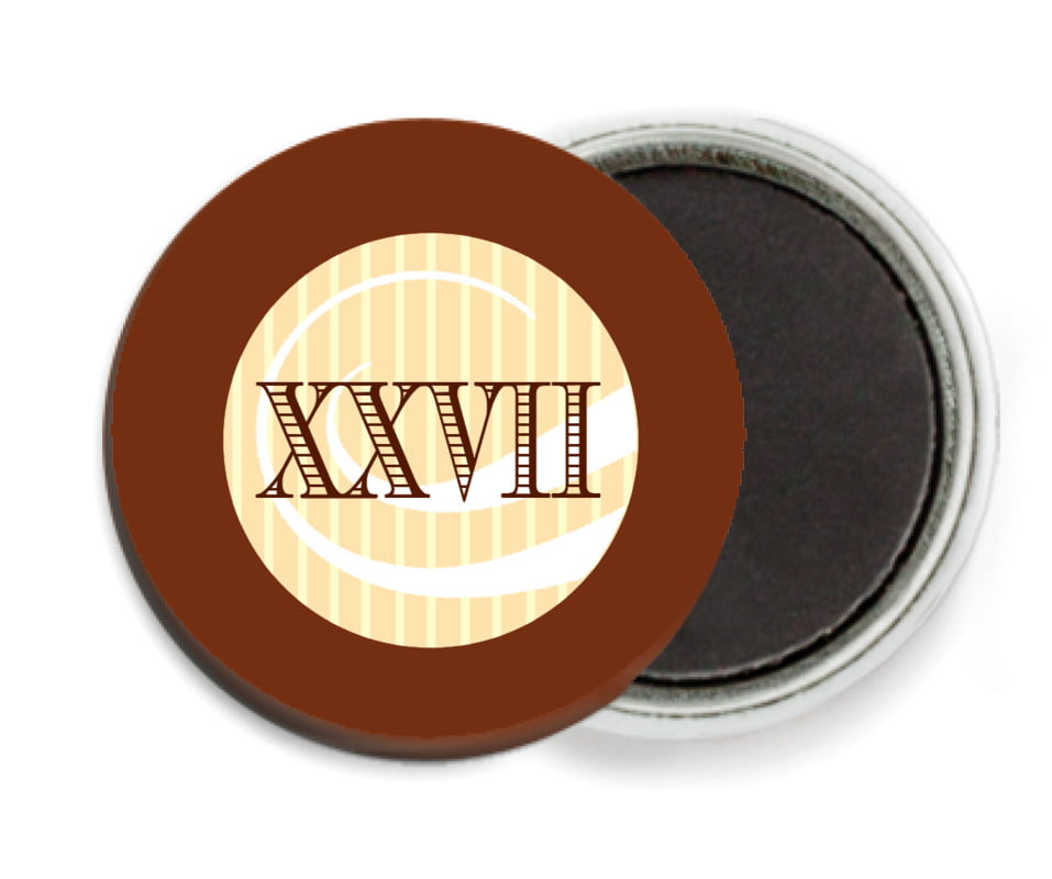 custom button magnets - chocolate - french market (set of 6)