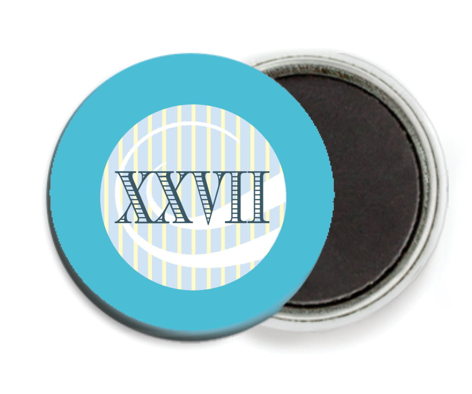 custom button magnets - sky - french market (set of 6)