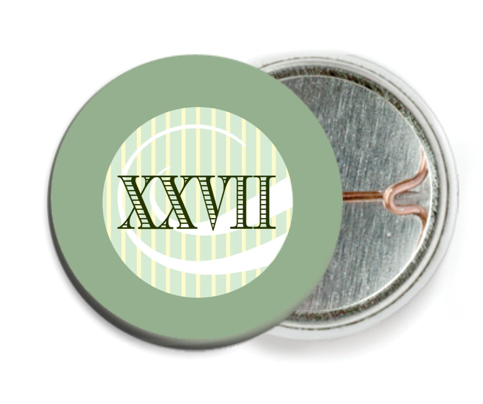 custom pin back buttons - sage - french market (set of 6)