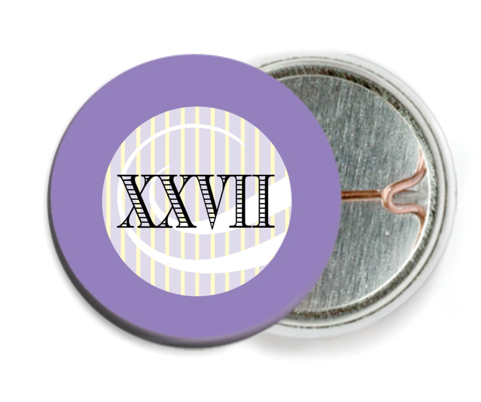 custom pin back buttons - lilac - french market (set of 6)