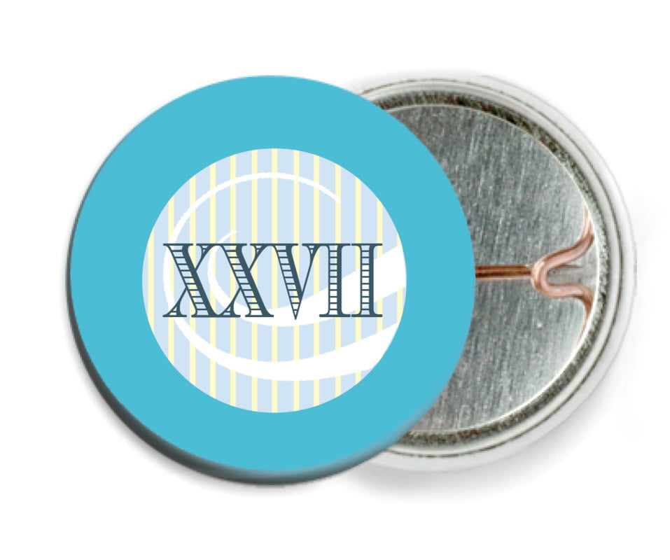 custom pin back buttons - sky - french market (set of 6)