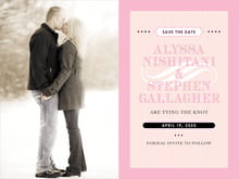 custom save-the-date cards - pale pink - french market (set of 10)
