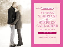 custom save-the-date cards - bright pink - french market (set of 10)