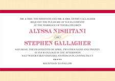 custom invitations - deep red - french market (set of 10)