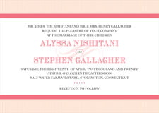 custom invitations - grapefruit - french market (set of 10)