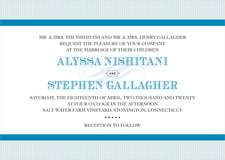 custom invitations - blue - french market (set of 10)