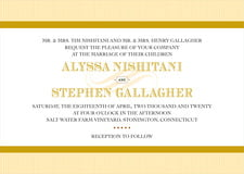 custom invitations - sunburst - french market (set of 10)