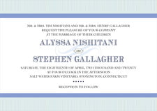 custom invitations - periwinkle - french market (set of 10)