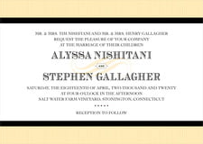 custom invitations - tuxedo - french market (set of 10)