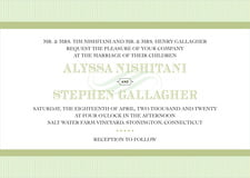custom invitations - green tea - french market (set of 10)