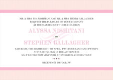 custom invitations - pale pink - french market (set of 10)