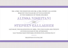 custom invitations - lilac - french market (set of 10)