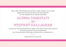 custom invitations - bright pink - french market (set of 10)