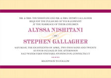 custom invitations - burgundy - french market (set of 10)