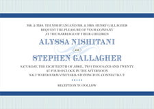 custom invitations - deep blue - french market (set of 10)