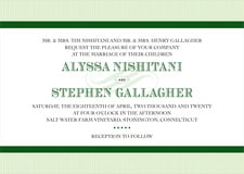 custom invitations - green - french market (set of 10)