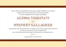 custom invitations - chocolate - french market (set of 10)