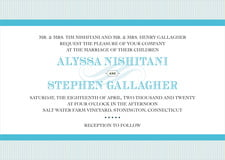 custom invitations - sky - french market (set of 10)