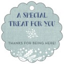 Forest Romance wedding favor tags