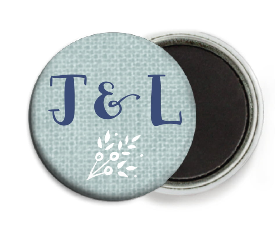 custom button magnets - sea glass - forest romance (set of 6)