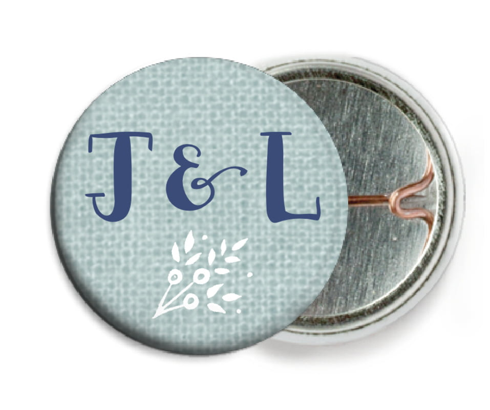 custom pin back buttons - sea glass - forest romance (set of 6)