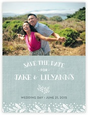 Forest Romance save the date cards