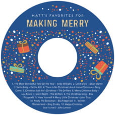 Festive Gifts holiday CD/DVD labels