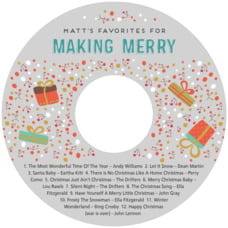 Festive Gifts cd labels