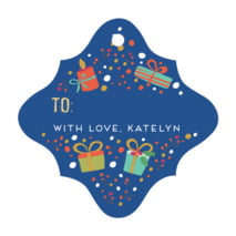 Festive Gifts fancy diamond gift tags