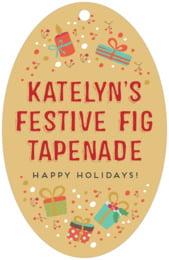 Festive Gifts large oval hang tags