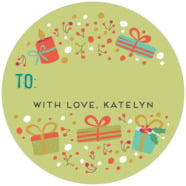 Festive Gifts large circle gift labels