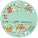 Festive Gifts small circle gift labels