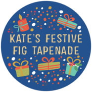 Festive Gifts Large Circle Label In Deep Blue