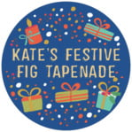 Festive Gifts Circle Label In Deep Blue